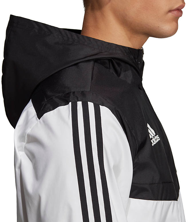 Detail 1 view of Men's adidas Tiro Windbreaker Jacket in White/Black