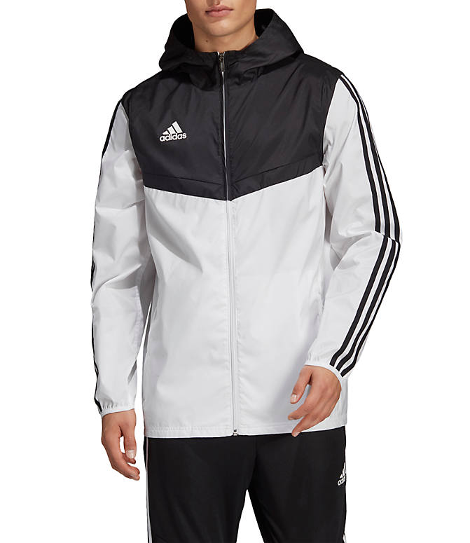 e227d7f68 Front view of Men's adidas Tiro Windbreaker Jacket in White/Black