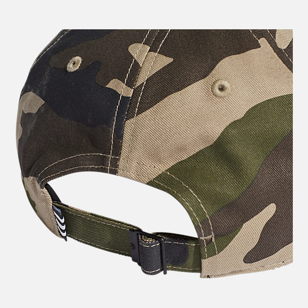 Alternate view of adidas Originals Classic Camo Trefoil Adjustable Hat in Blanch Cargo/White