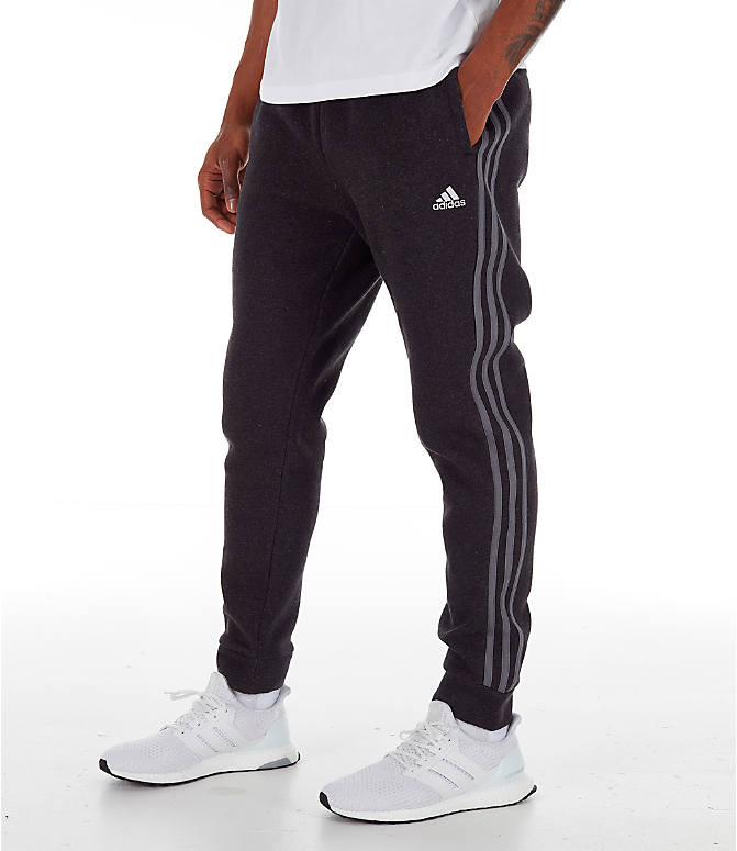 Front view of Men's adidas Essentials Jogger Pants in Black