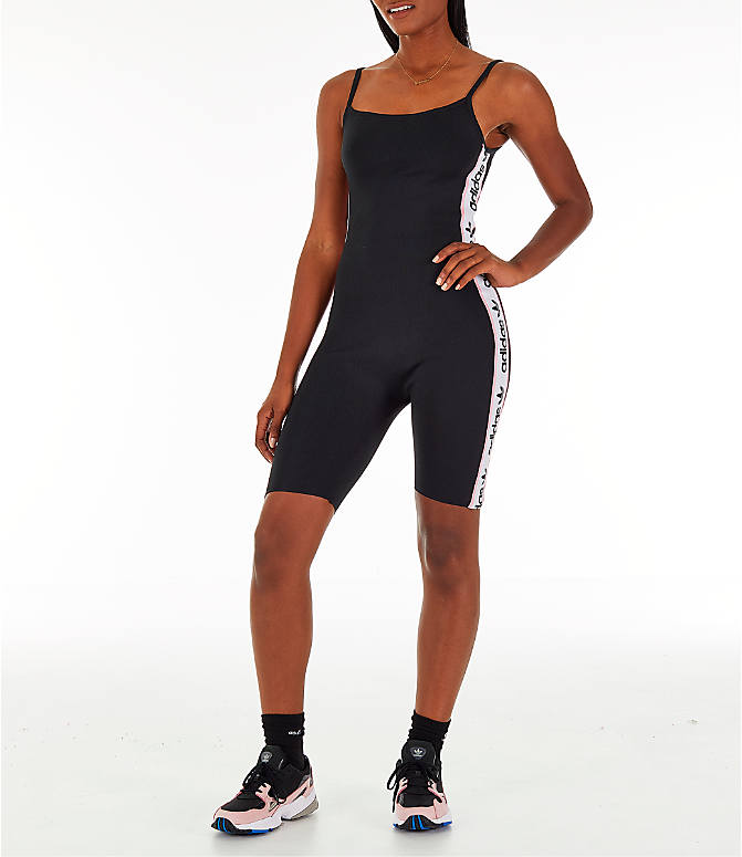 Front view of Women's adidas Originals Knitted Body Suit in Black