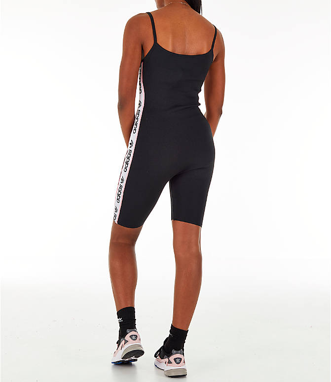Back Left view of Women's adidas Originals Knitted Body Suit in Black