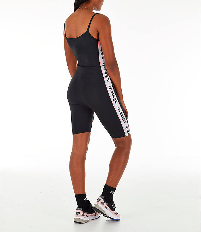 Back Right view of Women's adidas Originals Knitted Body Suit in Black