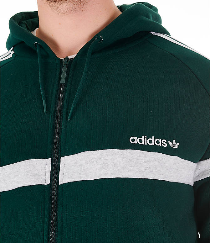 Detail 1 view of Men's adidas Originals Itasca Full-Zip Hoodie in Green Night