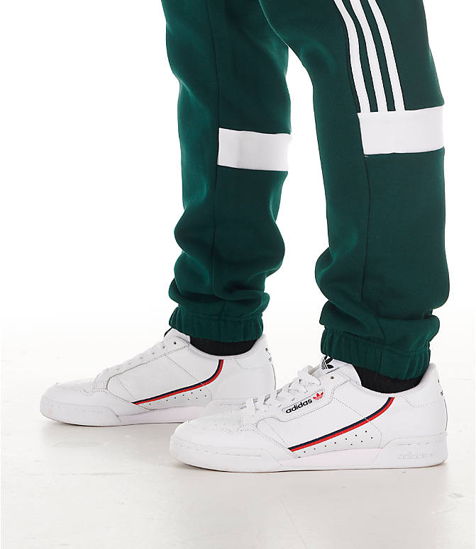 Detail 2 view of Men's adidas Originals Itasca Fleece Jogger Pants in Green Night