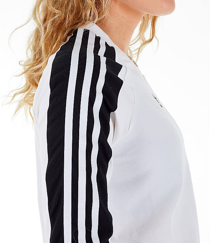 Detail 2 view of Women's adidas Originals Panel Long-Sleeve T-Shirt in White