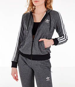 Women's adidas Originals Poly Melange Full-Zip Hoodie