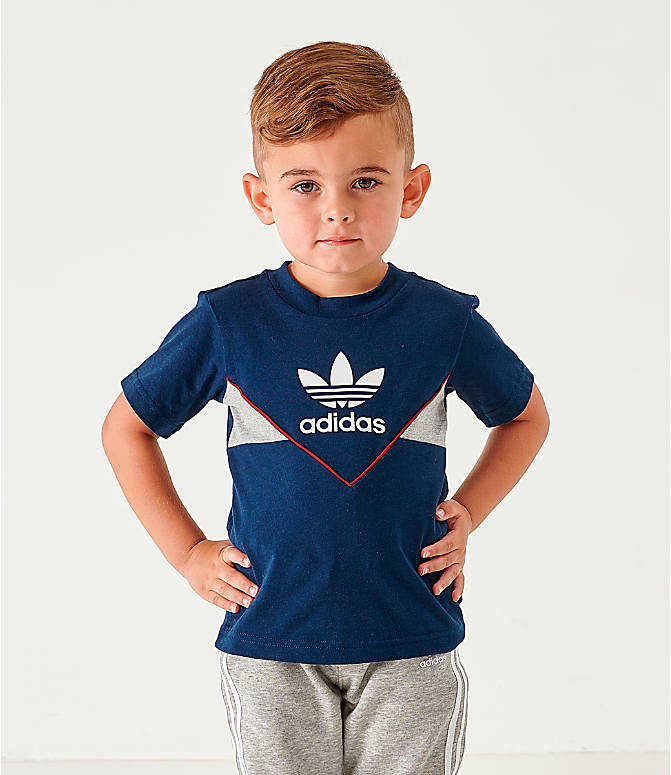 Front view of Infant and Toddler Kids' adidas Originals Colorado T-Shirt in Navy