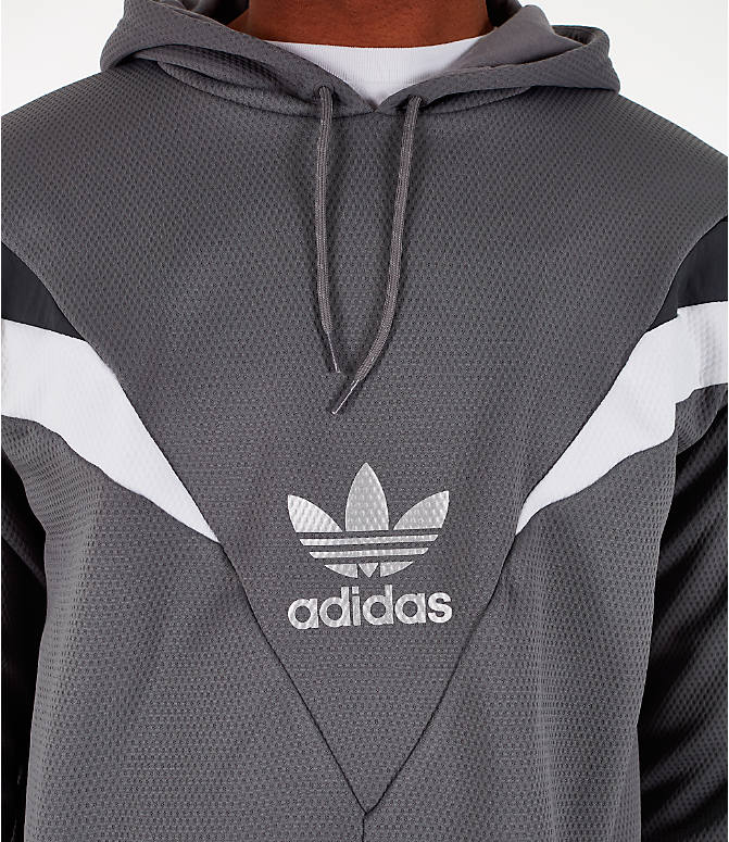 Detail 1 view of Men's adidas Originals SR Hoodie in Grey Four