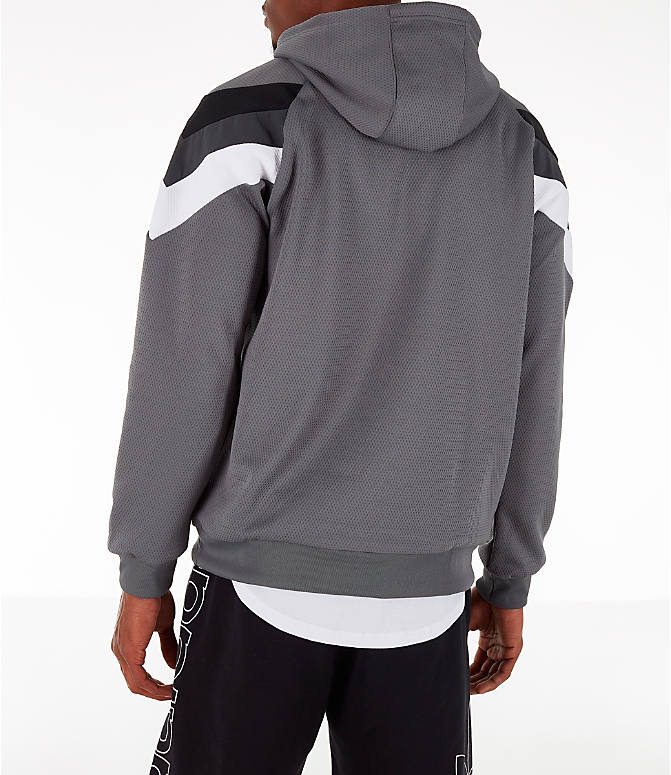 Back Left view of Men's adidas Originals SR Hoodie in Grey Four