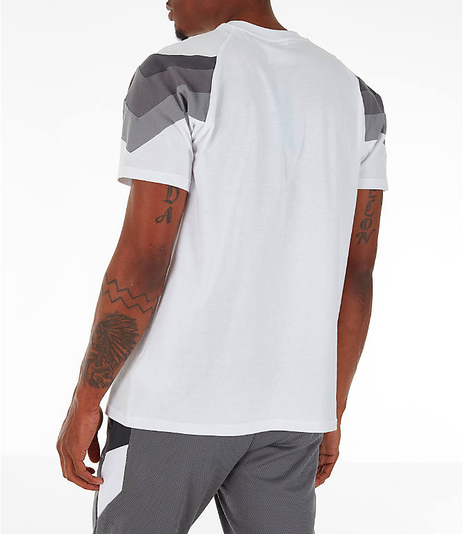 Back Left view of Men's adidas Originals SR T-Shirt in White