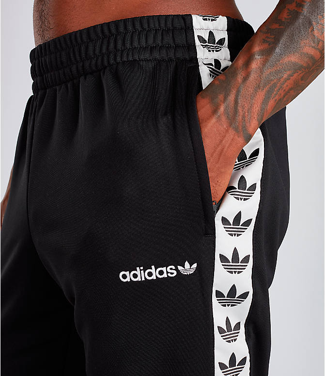 Detail 1 view of Men's adidas Tape Track Pants in Black/White