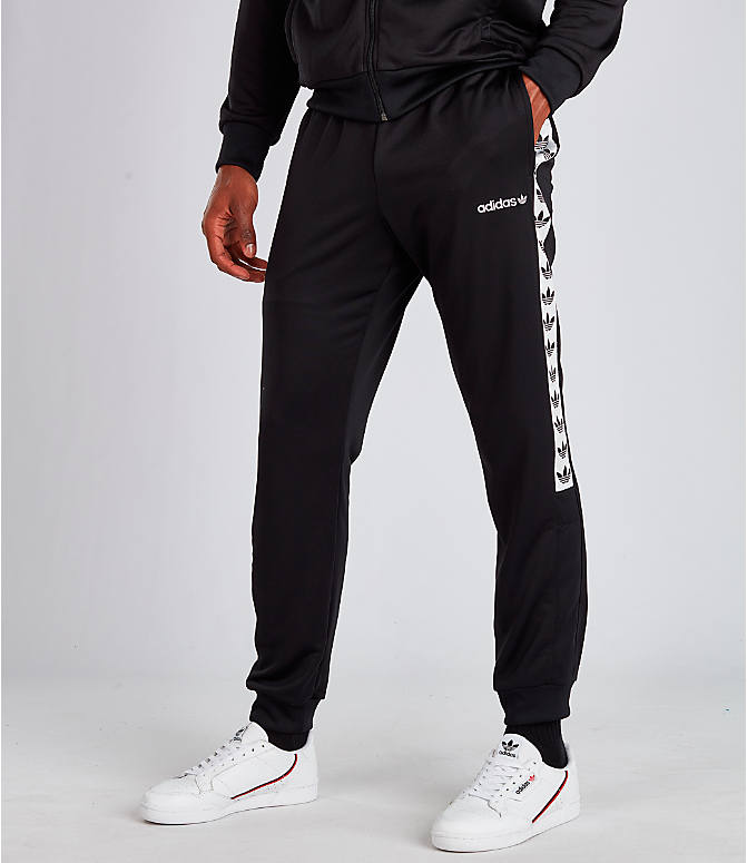 Front view of Men's adidas Tape Track Pants in Black/White