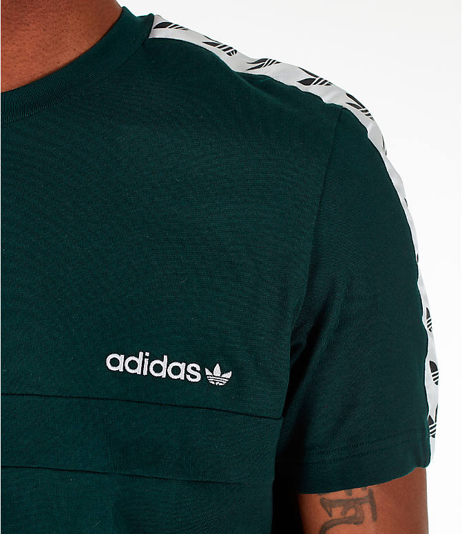 Detail 1 view of Men's adidas Originals Itasca Tape T-Shirt in Green Night