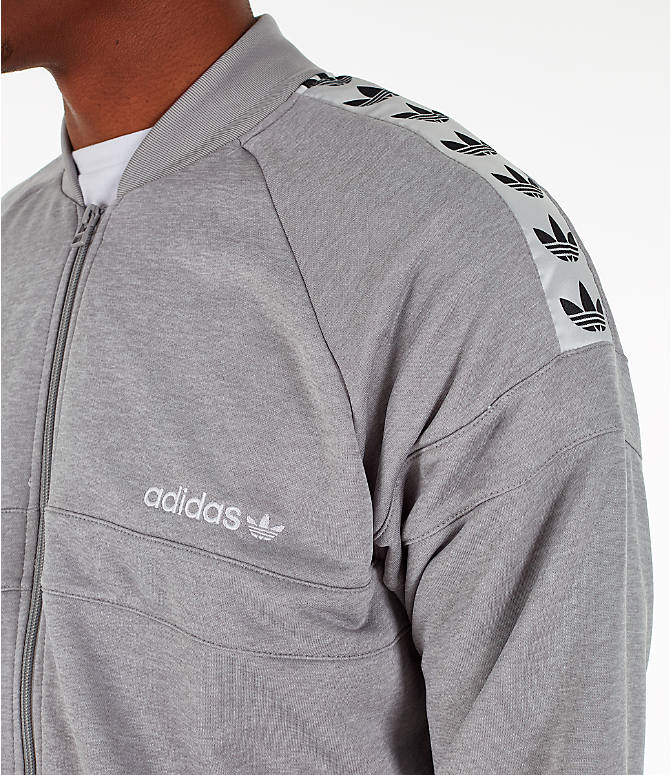 Detail 1 view of Men's adidas Originals Itasca Tape Track Jacket in Medium Grey