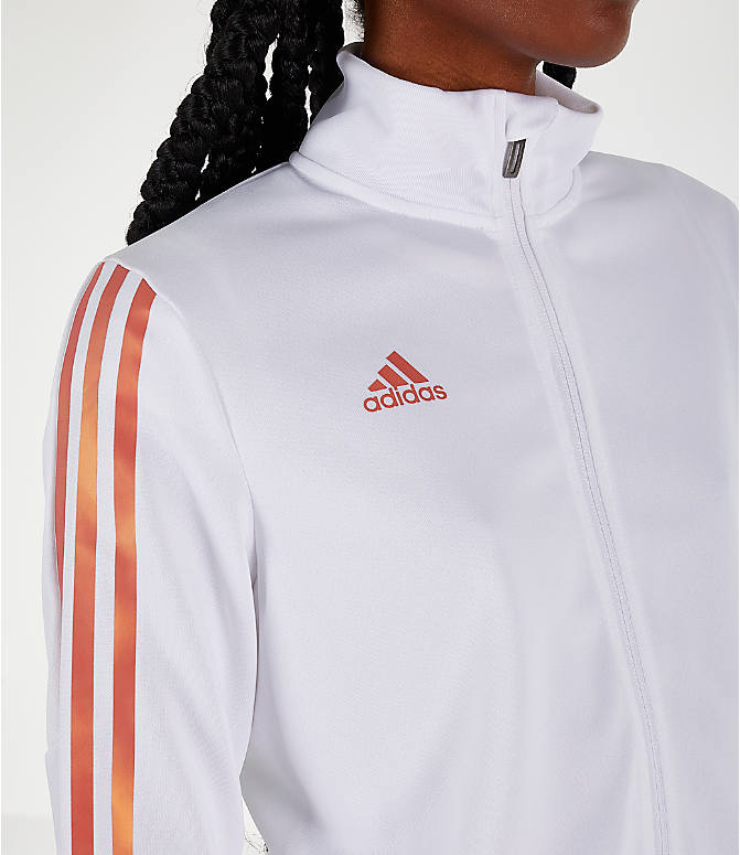 Detail 1 view of Women's adidas Originals Tiro Track Jacket in White/Gold