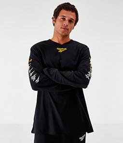 Men's Reebok Classics Multi Vector Long-Sleeve T-Shirt