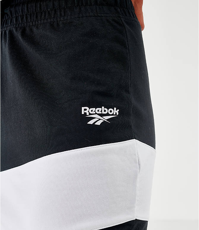 On Model 5 view of Women's Reebok Classics Vector Jersey Skirt in Black/White