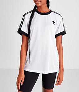 Women's adidas Originals 3-Stripes Mesh Cali T-Shirt
