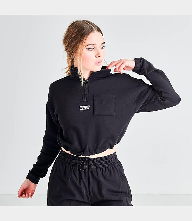 Women's adidas Originals Half Zip Sweater