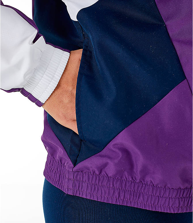 Detail 2 view of Women s adidas Originals 90 s Colorblock Track Jacket in  Purple Navy 705f9a9a4b