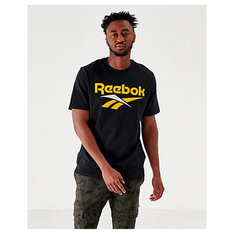 Reebok T-shirts MEN'S CLASSICS VECTOR T-SHIRT, BLACK - SIZE XXLRG