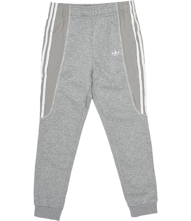 8927b0bf9 Front view of Boys' adidas Originals Radkin Jogger Pants in Medium Grey  Heather