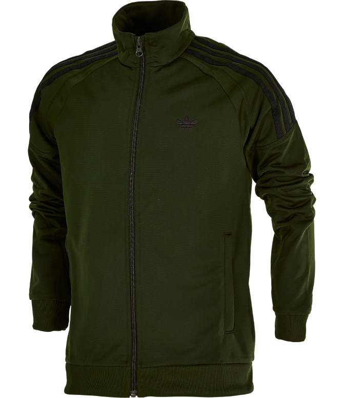 Front view of Boys' adidas Originals Flamestrike Track Jacket in Night Cargo