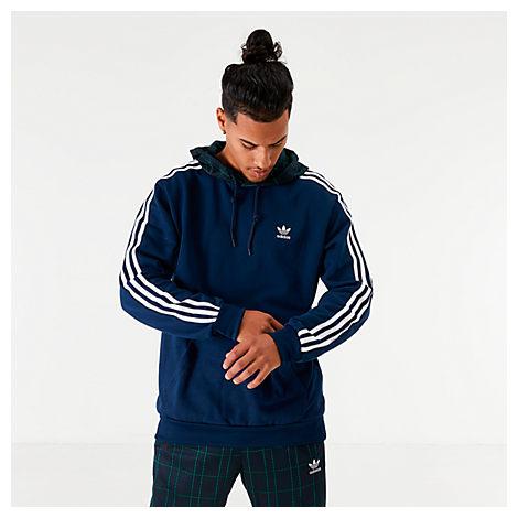 Adidas Originals Adidas Men's Originals Tartan Hoodie In Blue