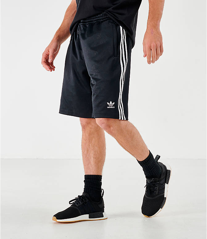 Front view of Men's adidas Originals Mono Shorts in Black/White