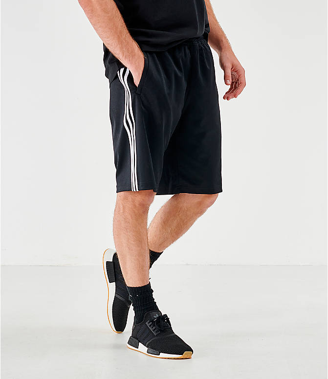 Back Left view of Men's adidas Originals Mono Shorts in Black/White