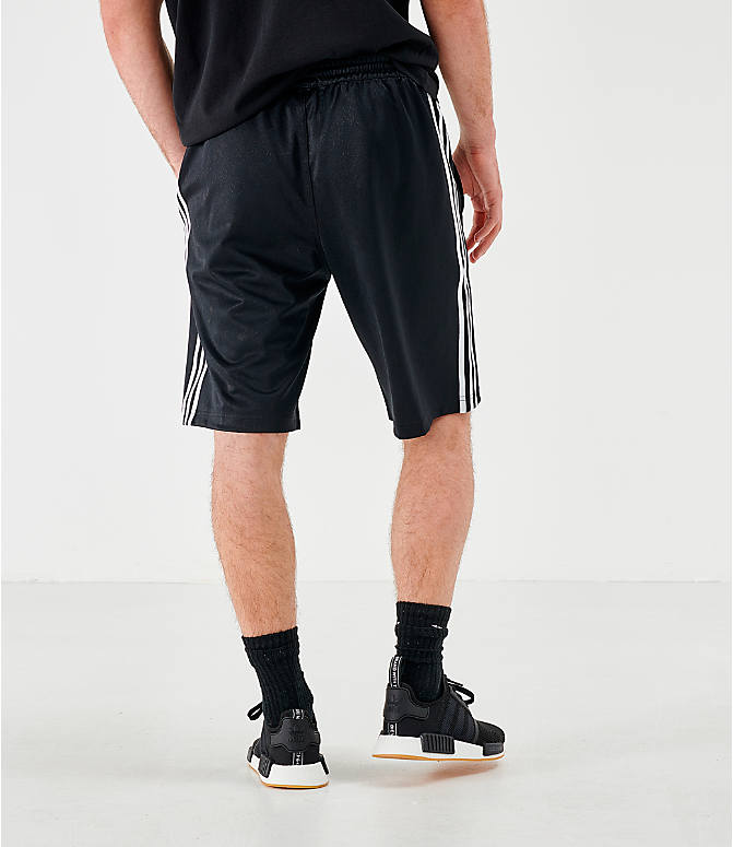 Back Right view of Men's adidas Originals Mono Shorts in Black/White