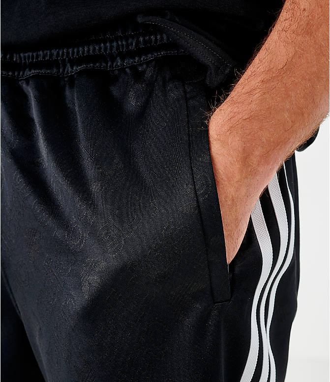 On Model 5 view of Men's adidas Originals Mono Shorts in Black/White
