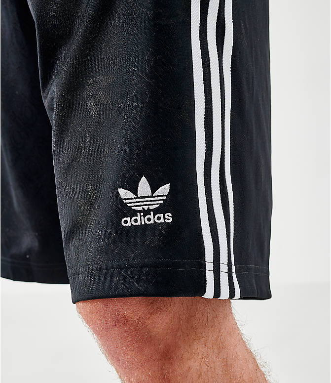On Model 6 view of Men's adidas Originals Mono Shorts in Black/White