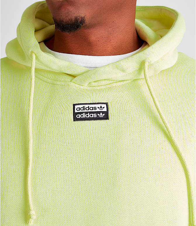 Detail 1 view of Men's adidas Originals R.Y.V. Hoodie in Ice Yellow