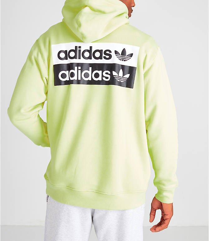 Front view of Men's adidas Originals R.Y.V. Hoodie in Ice Yellow