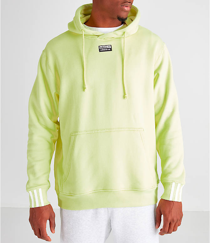 Back Left view of Men's adidas Originals R.Y.V. Hoodie in Ice Yellow