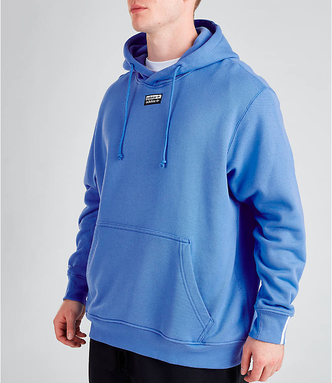 Back Left view of Men's adidas Originals R.Y.V. Hoodie in Real Blue