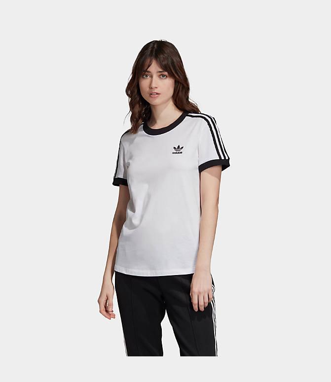 adidas 3 stripes t shirt women's