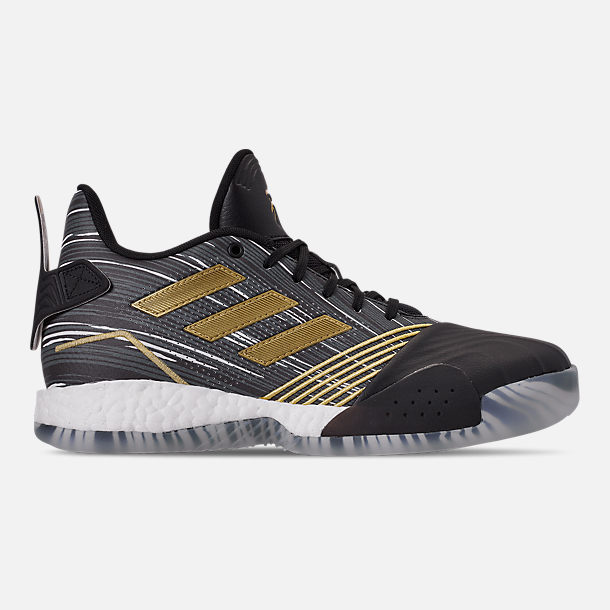 save off 8327b 852d4 Right view of Mens adidas T-Mac Millennium Basketball Shoes in BlackGold