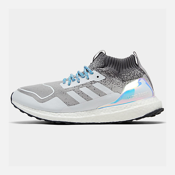 Right view of Men's adidas UltraBOOST Mid Running Shoes in Light Granite/Light Granite/Silver