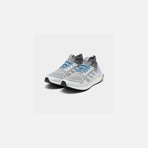 a07812faa8e Three Quarter view of Men s adidas UltraBOOST Mid Running Shoes in Light  Granite Light Granite