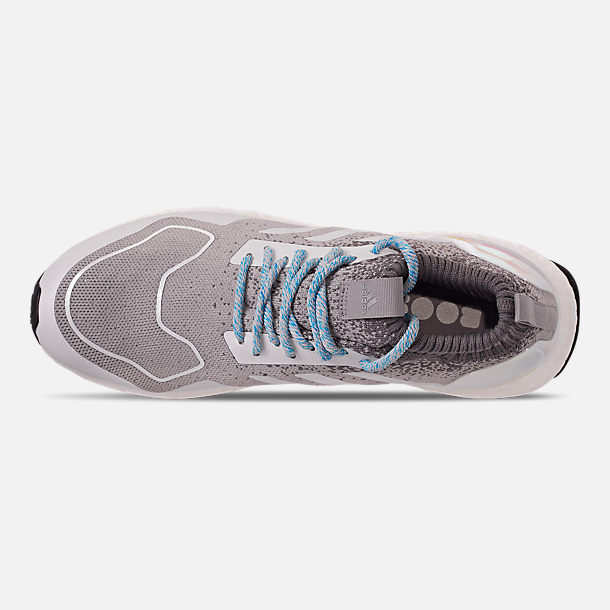 Top view of Men's adidas UltraBOOST Mid Running Shoes in Light Granite/Light Granite/Silver