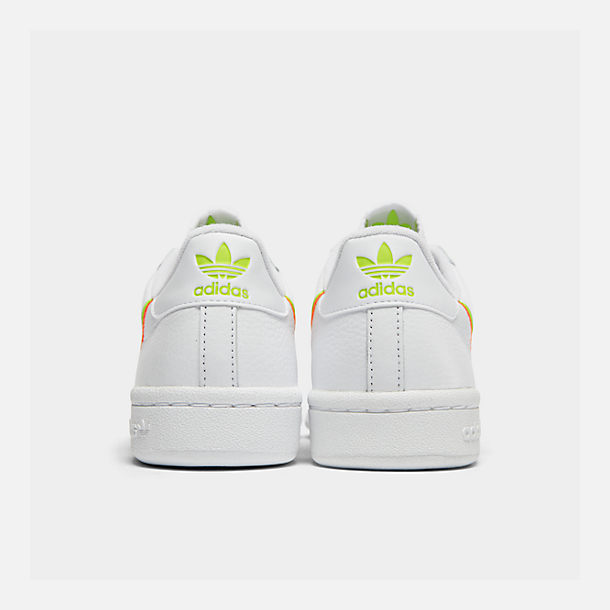 Left view of Women's adidas Originals Continental 80 Casual Shoes in White/Yellow/Orange