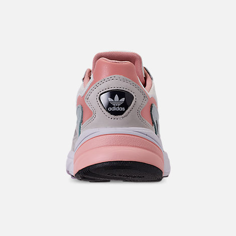 Back view of Women's adidas Originals Falcon Casual Shoes in White Tiny/Raw White/Trace Pink