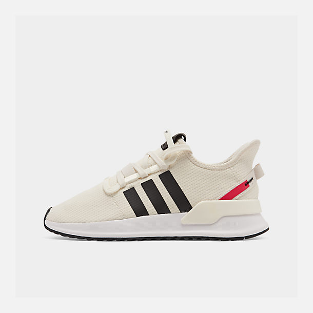 Right view of Men's adidas U_Path Run Casual Shoes in Off White/Core Black/Shock Red