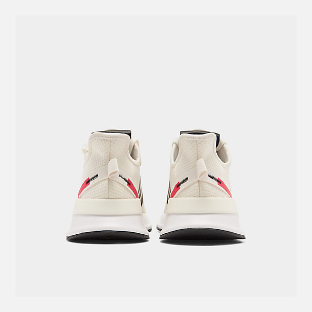 Left view of Men's adidas U_Path Run Casual Shoes in Off White/Core Black/Shock Red