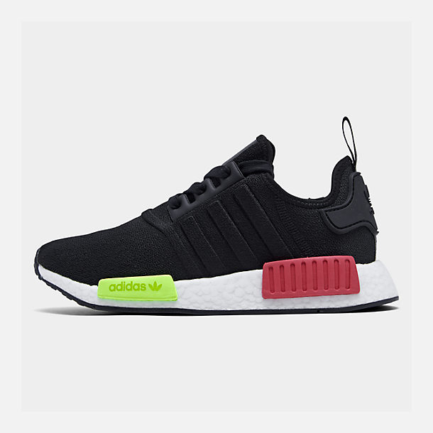 Right view of Men's adidas NMD Runner R1 Casual Shoes in Core Black/Core Black/Energy Pink