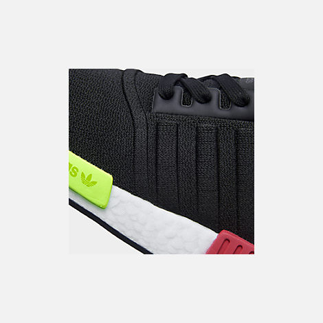Front view of Men's adidas NMD Runner R1 Casual Shoes in Core Black/Core Black/Energy Pink