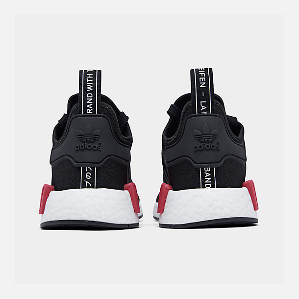 Left view of Men's adidas NMD Runner R1 Casual Shoes in Core Black/Core Black/Energy Pink